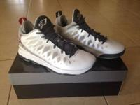 Utilized Jordan CP3 Christmas Edition basketball shoes