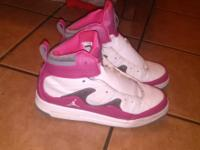 Practically new, jordan flight shoes. Worn a couple of