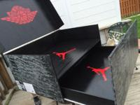 Jordan shoe box holds up to 16 men's size 12. Can be