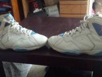 I got a pair of Jordan 7s in Pacific Blue in size 11