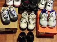 selling a few pairs of baby Jordans & other shoes all