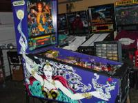 This is a nice Judge Dredd pinball machine that was