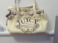 Super cute tan juicy purse. The scarf is old but could