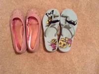 Authentic Juicy Couture Girls Shoes for Summer. Both