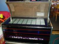 Here is a jukebox 160 selections full of records it