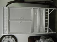"Julia TV Armoire (White 77""H x 38"" W ) Great Price Come"