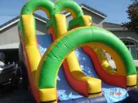 like new doble water slide with 1.5hp blower 6 month