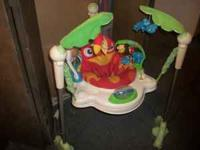 Rainforest jumperoo $25, portable swing $25 and play