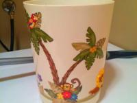 Kids jungle trash can. in excellent condition.  Asking