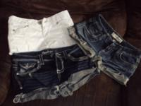 3 pair of junior girls shorts -- 1 pair Charlotte Russe
