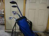 One set of Ping Moxie Junior golf clubs, great for a