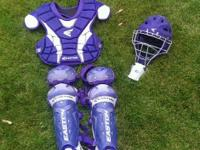 Easton Force junior catchers equipment, Purple and