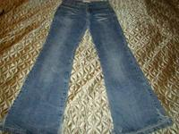 "Juniors jeans size 7. Inseam is 31"", rise is 8"", and"
