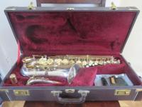 For sale is a used Jupiter JAS-869 Alto Sax including
