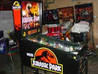 This is an excellent condition Jurassic Park pinball