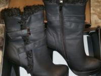 These boots have been worn once & they retail for $40.