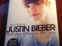 Justin Bieber Book: First Step 2 Forever: My Story NEW