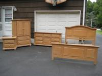 in a great condition and clean set solid wood all