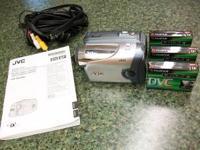 JVC Digital Video Camera Model # GR-DA30U comes with 3
