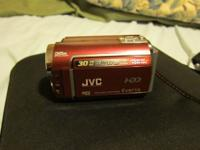 Like new JVC 30 gb hd plus sd meada card model#