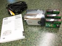 JVC Digital Video Camera Model # GR-DA30U comes with 3