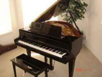 "Beautiful K. KAWAI GRAND 5' 0"" PIANO, - EBONY POLISHED."