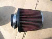 For sale: One K&N TYPE AIR FILTER 2 1/2 INCH USED If