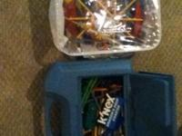 See pictures. K'nex lot getting a lot for the price.