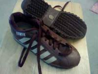 MENS K-SWISS SHOES -BROWN LEATHER SIZE 11 - LIKE NEW