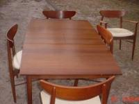 STURDY DINING ROOM SET, ONE HARD TO SEE SCRATCH, CAN BE