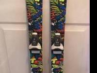 Used Twin Tip Skis with Dynastar Team 7 bindings.