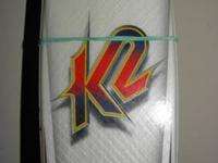 K2 Fiberglass Shape Skis, LIKE NEW, with Marker M48