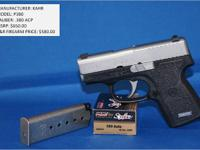Brand New KAHR P380 Give us a call at  for more