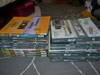 Total Set of Kaplan MCAT Review/Study books. Used over