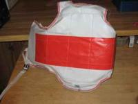 We have 2 chest guards, which are in good condition.