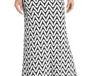 Karen Kane's printed scallop-hem maxi skirt will trump