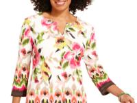Go floral in Karen Scott's studded tunic, complete with