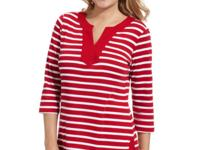 Karen Scott's striped top adds an instantly cheerful