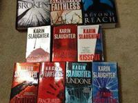 Karin Slaughter books for sale. $5 hardback $3