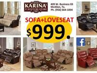 Karina S Furniture Sofa Loveseat W Recliner