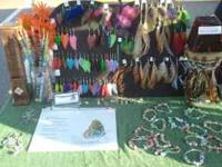 I make and sell Feather Earrings, Feather Hair Clips,