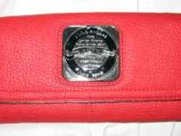 LIKE NEW CONDITION!!! Red faux leather wallet, trimmed