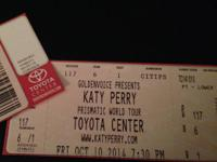 I have 2 pairs of tickets to see Katy Perry in Houston!