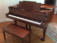 "Type: Pianos Type: Kawai Kawai Baby Grand Piano 5'9"""