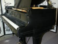 """Ebony Gloss Kawai Baby Grand Piano, KC-1C 5'1"""", 1981,"""