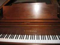 The size of my Kawai piano is five feet ten inches and