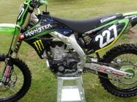up for sale is a 09 monster energey edition kx450. bike