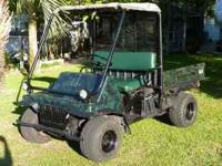 A Kawasaki Mule 4 Wheel Drive, Yes this is a 4 x 4 618