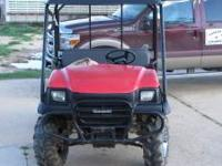 Kawasaki Mule excellent condition, new motor, new seat,