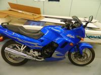 In a Sweet Plasma Blue with Sliver Blaze, this bike is